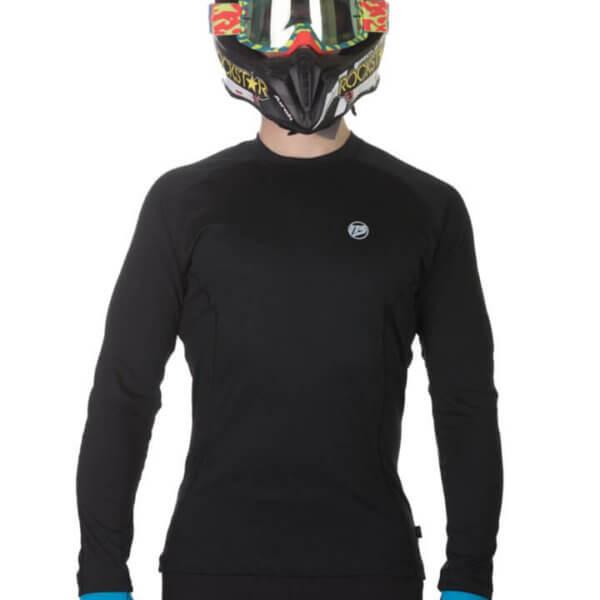 Koszulka termoaktywna motocyklowa męska 115moto Black