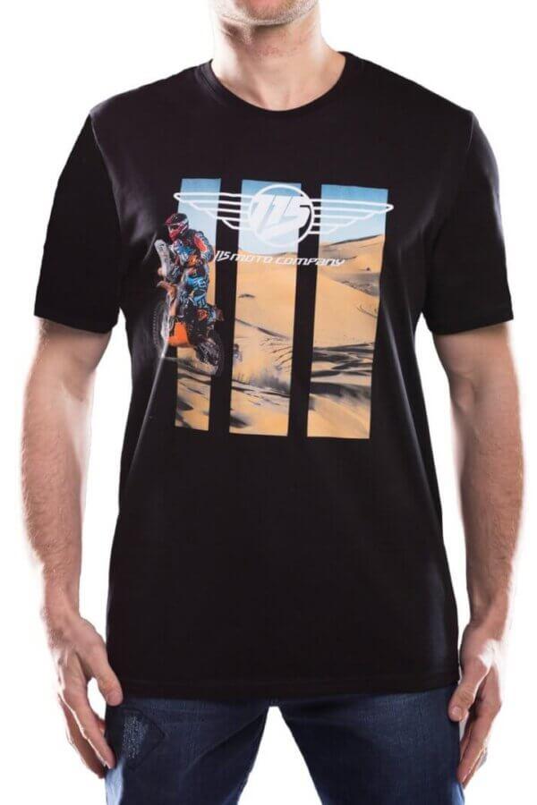 T-shirt męski 115moto Black kolekcja DAKAR